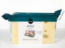 1 Pfund-Block des Publix-Marken-Schweizer Käses Lizenzfreie Stockfotografie