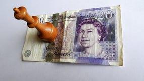 Pfund ist zurück in The Game Stockbild