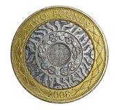 Pfund-Münze Briten zwei Stockfotos