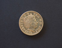 1-Pfund-Münze, Vereinigtes Königreich in London Stockfoto