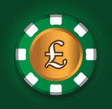 Pfund-Münzen-Thema-Design Stockbilder