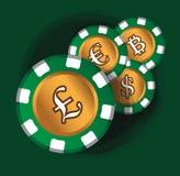 Pfund-Münzen-Thema-Design Stockbild