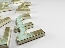 Pfund Sterling Symbol Lizenzfreies Stockfoto