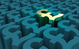 Pfund-Sterling Symbols-Muster Stockfotografie