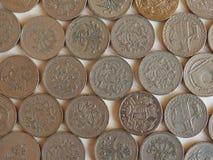 Pfund u. x28; GBP& x29; Münze, Vereinigtes Königreich u. x28; UK& x29; Stockfotos