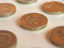 Pfund u. x28; GBP& x29; Münze, Vereinigtes Königreich u. x28; UK& x29; Lizenzfreies Stockfoto