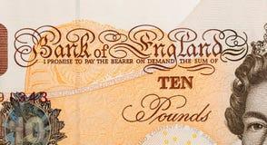 Pfundwährungshintergrund - 10 Pfund Stockbilder