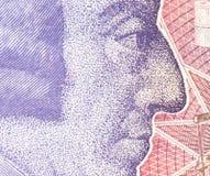 Pfundwährungshintergrund - 20 Pfund Lizenzfreies Stockbild