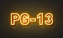 PG-13 σημάδι νέου απεικόνιση αποθεμάτων