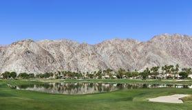 Pga西部高尔夫球场,棕榈泉,加利福尼亚 免版税图库摄影