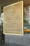 PGA Birthplace. A plaque commemorating the place where the Professional Golfers' Association of America (PGA) was founded, in New York City Stock Photos