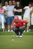 PGA European Open at the London Golf Club Ash Kent. Spain's Sergio Garcia lines up a putt while competing at the PGA European Tour European Open at the London Stock Photography