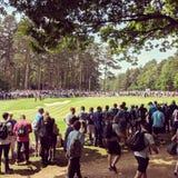 PGA Europejska wycieczka turysyczna przy Wentworth kijem golfowym zdjęcie royalty free