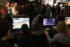 PGA - Game Arena. PGA - Poznan Game Arena - 22-23.11.2008. International exhibition of video and computer games in Poznan, Poland. One of the biggest exhibition Royalty Free Stock Photo