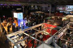 PGA - Game Arena - Exhibition. PGA - Poznan Game Arena - 22-23.11.2008. International exhibition of video and computer games in Poznan, Poland. One of the Royalty Free Stock Images