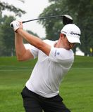 PGA player Justin Rose. Justin Rose of Britain prepares to swing his driver at the PGA event Stock Images