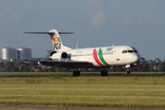 PGA - Portugalia Airlines Fokker 100 Royalty Free Stock Photos