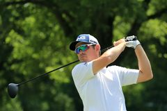 PGA pro Louis Oosthuizen tee shot Royalty Free Stock Photography