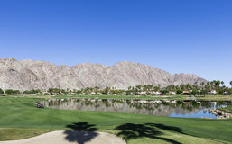 Pga West golf course, Palm Springs, California. Pga West golf course in La Quinta, Palm Springs, California, usa Royalty Free Stock Photo