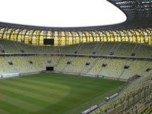 PGE Arena-Gdansk-Stadion-Spielfeld Stockbilder