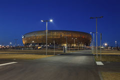 PGE Arena stadium. GDANSK, POLAND - MARCH 23: PGE Arena newly built football stadium for Euro 2012 Championship. Stadium has a capacity of 44 000 people. March Royalty Free Stock Photo