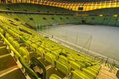 PGE Arena stadium for 43,615 spectators. GDANSK, POLAND - FEBRUARY 4: Newly built PGE Arena stadium for 43,615 spectators. The stadium was built specifically for Royalty Free Stock Images
