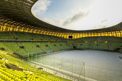 PGE Arena stadium for 43,615 spectators. GDANSK, POLAND - FEBRUARY 4: Newly built PGE Arena stadium for 43,615 spectators. The stadium was built specifically for Stock Images