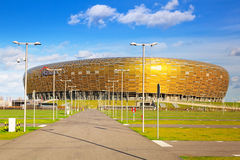 PGE Arena stadium in Gdansk, Poland. PGE Arena stadium for 43,615 spectators on 29 October 2013. PGE Arena Gdansk is the largest arena in polish league Stock Image