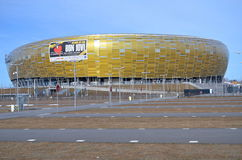 PGE Arena Stadium in Gdansk, Poland. The stadium was built for EURO 2012. It is also the arena of local club Lechia Gdansk Stock Photography