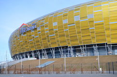 PGE Arena Stadium in Gdansk, Poland. The stadium was built for EURO 2012. It is also the arena of local club Lechia Gdansk Stock Images