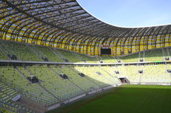 PGE Arena Stadium in Gdansk, Poland. The stadium was built for EURO 2012. It is also the arena of local club Lechia Gdansk Royalty Free Stock Photos