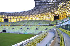 PGE Arena Stadium in Gdansk, Poland. The stadium was built for EURO 2012. It is also the arena of local club Lechia Gdansk Royalty Free Stock Photo