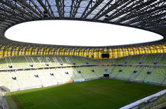 PGE Arena Stadium in Gdansk, Poland. The stadium was built for EURO 2012. It is also the arena of local club Lechia Gdansk Stock Image