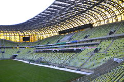 PGE Arena Stadium in Gdansk, Poland. The stadium was built for EURO 2012. It is also the arena of local club Lechia Gdansk Royalty Free Stock Image