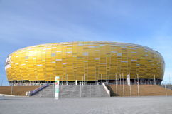 PGE Arena Stadium in Gdansk, Poland. The stadium was built for EURO 2012. It is also the arena of local club Lechia Gdansk Stock Photo