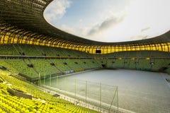 PGE Arenastadion für 43.615 Zuschauer Stockbilder