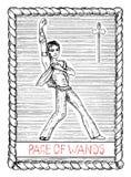 Pge of wands. The tarot card. Royalty Free Stock Photos