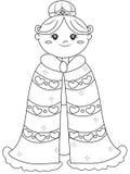 Página da coloração da princesa Fotos de Stock