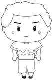 Página da coloração do rapaz pequeno Fotos de Stock Royalty Free