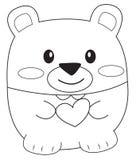Página da coloração do urso de peluche Fotografia de Stock Royalty Free