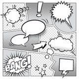 Página del cómic Fotos de archivo