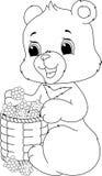 Página del colorante del oso Imagenes de archivo
