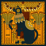 Página elegante da coloração do gato Imagem de Stock Royalty Free
