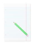 Página em branco do manual de instruções com lápis Foto de Stock Royalty Free