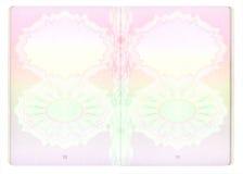 Páginas em branco do passaporte Foto de Stock Royalty Free