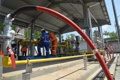 PGN在三宝垄扩展天然气管道基础设施 库存图片