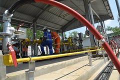 PGN amplía la infraestructura natural del gaseoducto en Semarang Fotos de archivo libres de regalías