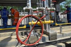 PGN expande a infraestrutura natural do gasoduto em Semarang Imagem de Stock Royalty Free