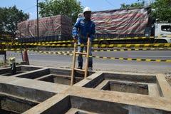 PGN expande a infraestrutura natural do gasoduto em Semarang Foto de Stock Royalty Free