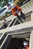 PGN expande a infraestrutura natural do gasoduto em Semarang Fotografia de Stock Royalty Free